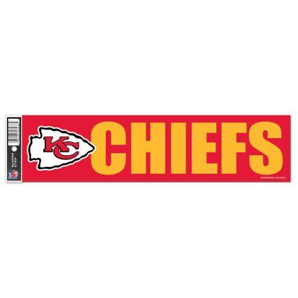 "Kansas City Chiefs Bumper Strip 3"" x 12"""