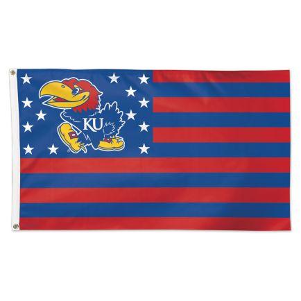Kansas Jayhawks / Stars and Stripes NCAA Flag - Deluxe 3' X 5'