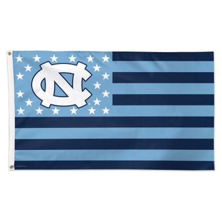 North Carolina Tar Heels / Stars and Stripes NCAA Flag - Deluxe 3' X 5'