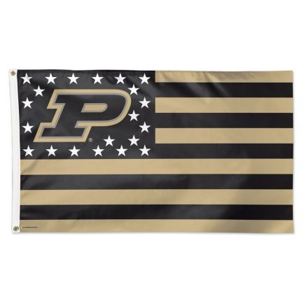 Purdue Boilermakers / Stars and Stripes NCAA Flag - Deluxe 3' X 5'