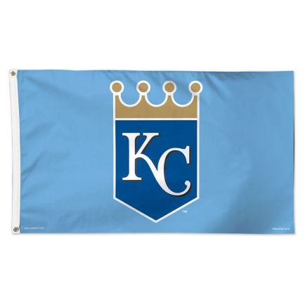 Kansas City Royals Crown Flag - Deluxe 3' X 5'