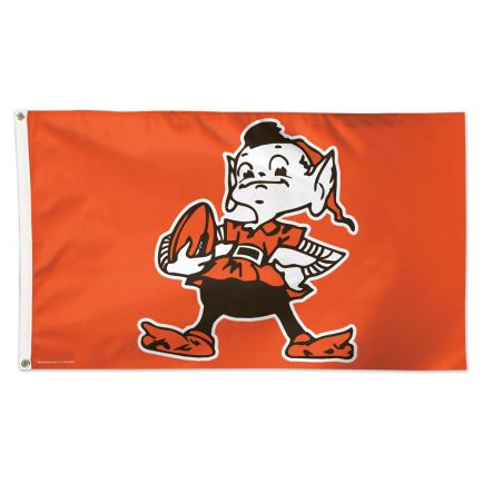 Cleveland Browns / Classic Logo Flag - Deluxe 3' X 5'