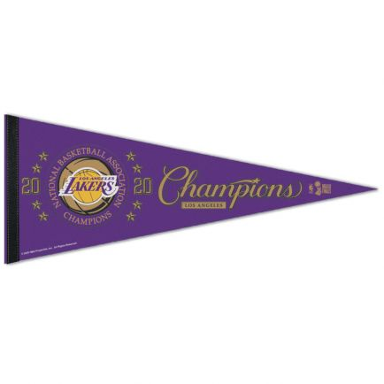 """World Champions Los Angeles Lakers Classic Pennant, carded 12"""" x 30"""""""
