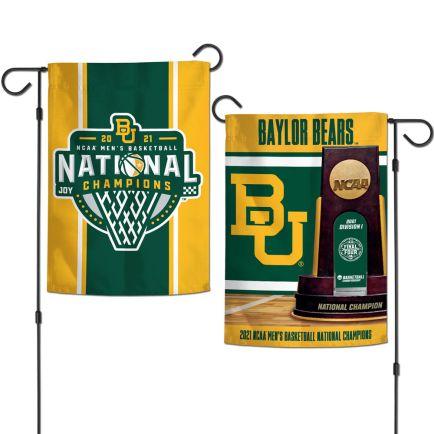 "NCAA Div I Basketball Champ Baylor Bears MENS FINAL FOUR CHAMPION BAYL Garden Flags 2 sided 12.5"" x 18"""