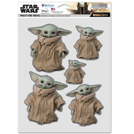 """The Mandalorian / Star Wars family Multi Use - 3 Fan Pack 5.5"""" x 7.75"""" The Child"""