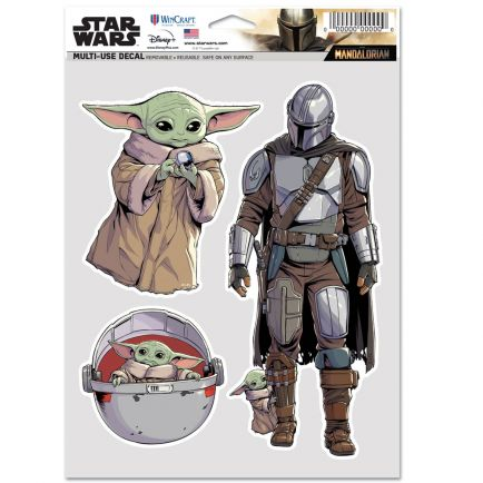 """The Mandalorian / A Star Wars Story THE CHILD Multi Use - 3 Fan Pack 5.5"""" x 7.75"""" The Child"""