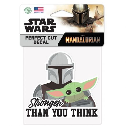 """The Mandalorian / A Star Wars Story STRONGER THAN YOU THINK Perfect Cut Color Decal 4"""" x 4"""" The Child"""