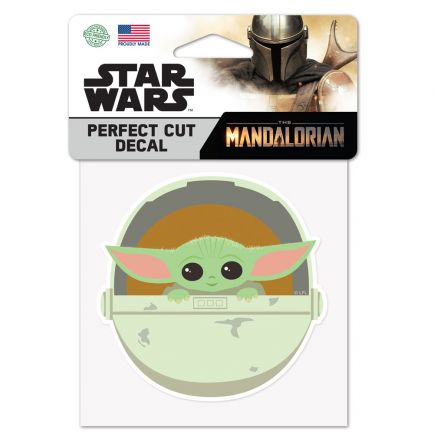 """The Mandalorian / Star Wars In Carrier Perfect Cut Color Decal 4"""" x 4"""" The Child"""