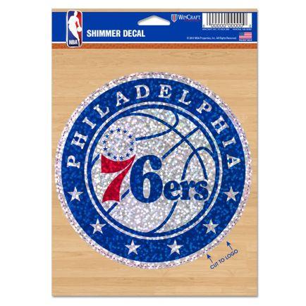 "Philadelphia 76ers Shimmer Decals 5"" x 7"""