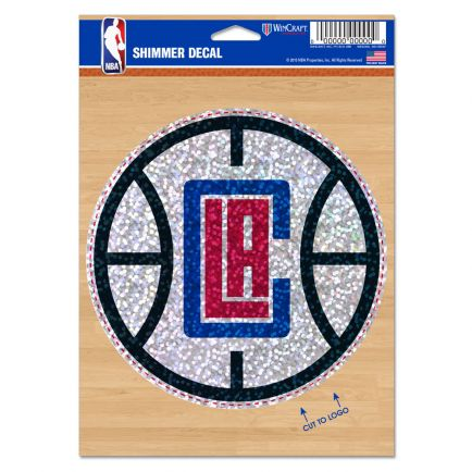 "Los Angeles Clippers Shimmer Decals 5"" x 7"""