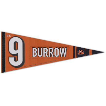 "Cincinnati Bengals Premium Pennant 12"" x 30"" Joe Burrow"
