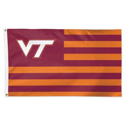 Virginia Tech Hokies / Stars and Stripes NCAA Flag - Deluxe 3' X 5'