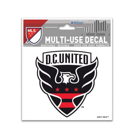 "D.C. United Multi-Use Decal 3"" x 4"""