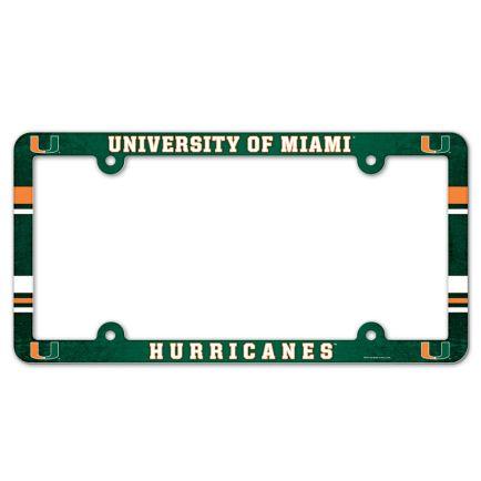 Miami Hurricanes Lic Plate Frame Full Color