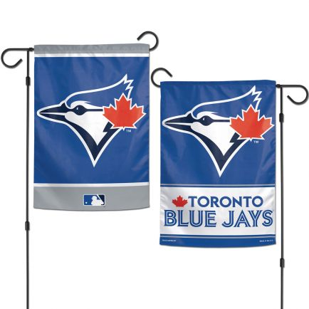 "Toronto Blue Jays Garden Flags 2 sided 12.5"" x 18"""