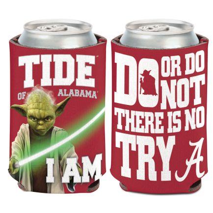 Alabama Crimson Tide / Star Wars Yoda Can Cooler 12 oz.