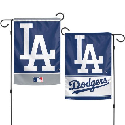 "Los Angeles Dodgers Garden Flags 2 sided 12.5"" x 18"""