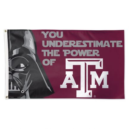Texas A&M Aggies / Star Wars Darth Vader Flag - Deluxe 3' X 5'