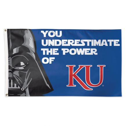 Kansas Jayhawks / Star Wars Darth Vader Flag - Deluxe 3' X 5'