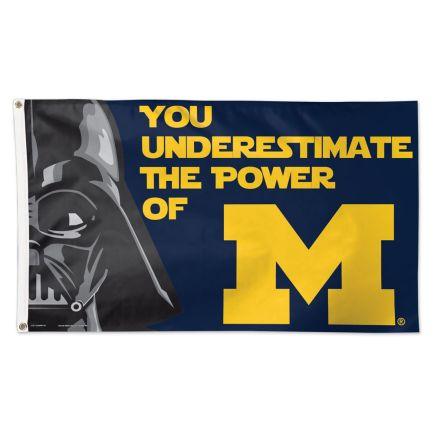 Michigan Wolverines / Star Wars Darth Vader Flag - Deluxe 3' X 5'