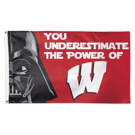 Wisconsin Badgers / Star Wars Darth Vader Flag - Deluxe 3' X 5'