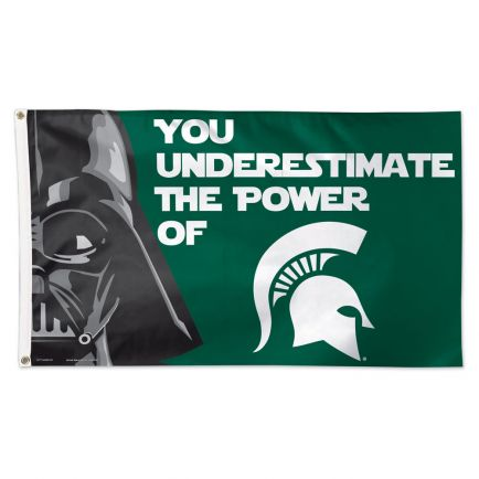 Michigan State Spartans / Star Wars Darth Vader Flag - Deluxe 3' X 5'