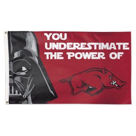 Arkansas Razorbacks / Star Wars Darth Vader Flag - Deluxe 3' X 5'