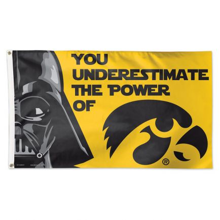 Iowa Hawkeyes / Star Wars Darth Vader Flag - Deluxe 3' X 5'