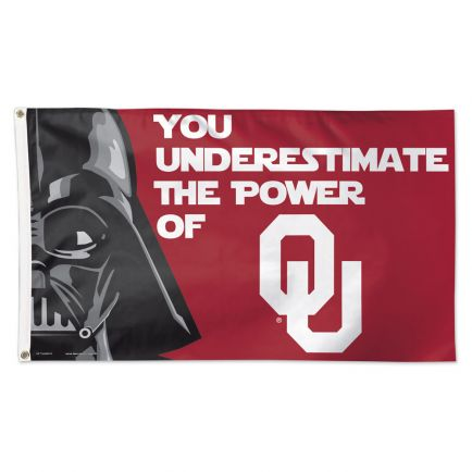 Oklahoma Sooners / Star Wars Darth Vader Flag - Deluxe 3' X 5'