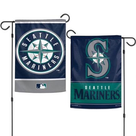 """Seattle Mariners Garden Flags 2 sided 12.5"""" x 18"""""""