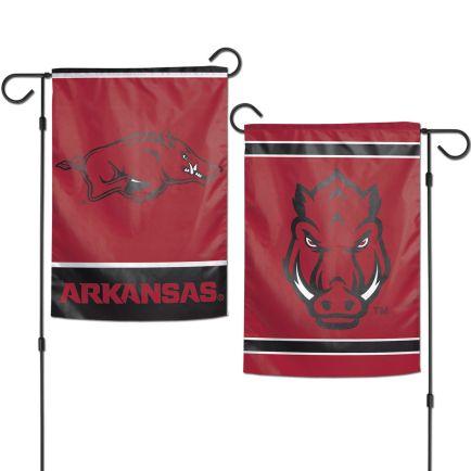 "Arkansas Razorbacks Garden Flags 2 sided 12.5"" x 18"""