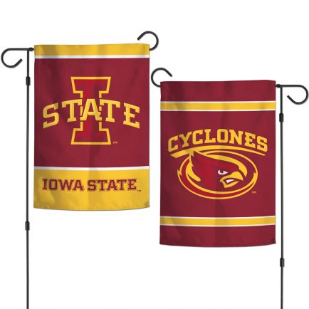 """Iowa State Cyclones Garden Flags 2 sided 12.5"""" x 18"""""""
