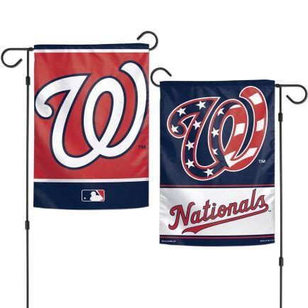 "Washington Nationals Garden Flags 2 sided 12.5"" x 18"""