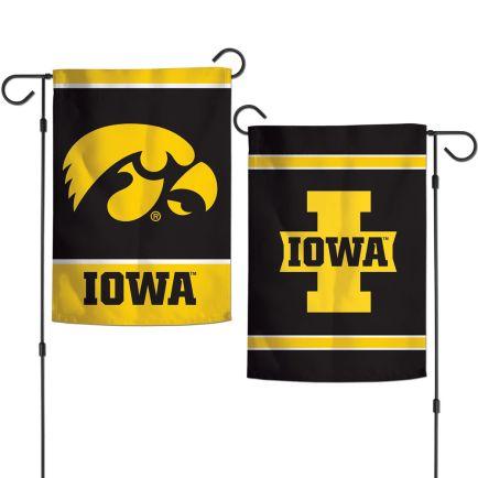 """Iowa Hawkeyes Garden Flags 2 sided 12.5"""" x 18"""""""