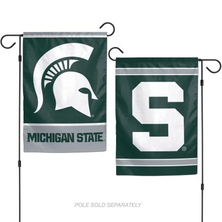 """Michigan State Spartans Garden Flags 2 sided 12.5"""" x 18"""""""