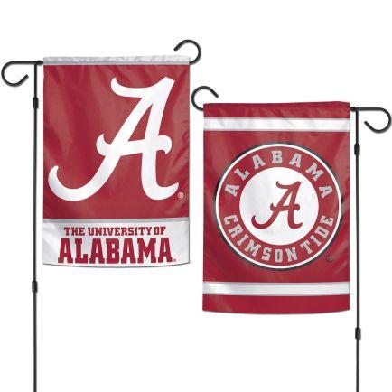 "Alabama Crimson Tide Garden Flags 2 sided 12.5"" x 18"""