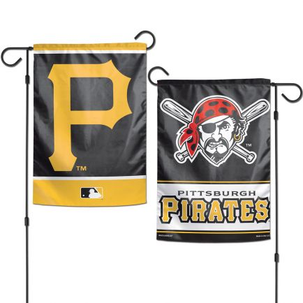 """Pittsburgh Pirates Garden Flags 2 sided 12.5"""" x 18"""""""
