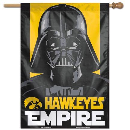 "Iowa Hawkeyes / Star Wars DARTH VADER Vertical Flag 28"" x 40"""
