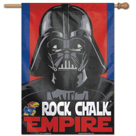 "Kansas Jayhawks / Star Wars star wars vader Vertical Flag 28"" x 40"""