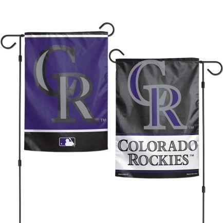 "Colorado Rockies Garden Flags 2 sided 12.5"" x 18"""