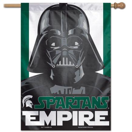 "Michigan State Spartans / Star Wars VADER Vertical Flag 28"" x 40"""