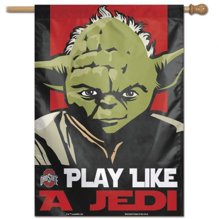 "Ohio State Buckeyes / Star Wars YODA Vertical Flag 28"" x 40"""