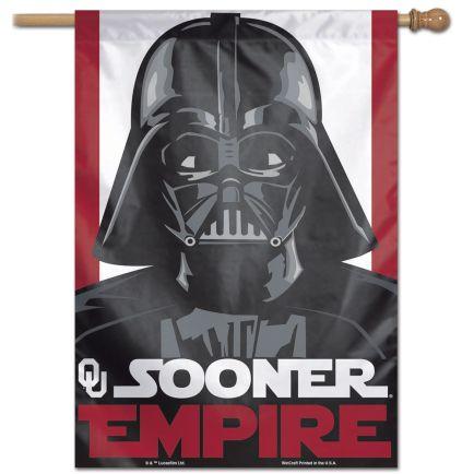 "Oklahoma Sooners / Star Wars VADER Vertical Flag 28"" x 40"""