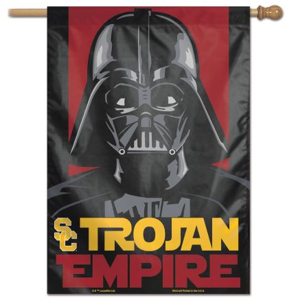 "USC Trojans / Star Wars DARTH VADER Vertical Flag 28"" x 40"""
