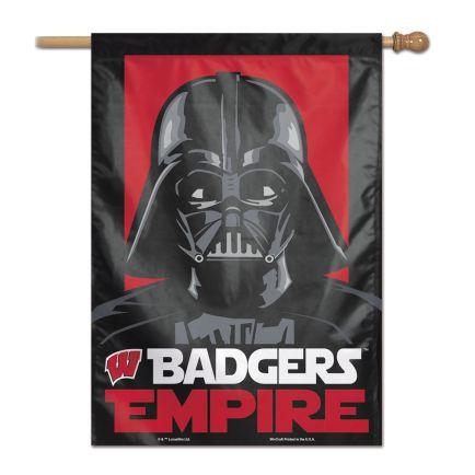 "Wisconsin Badgers / Star Wars DARTH VADER Vertical Flag 28"" x 40"""