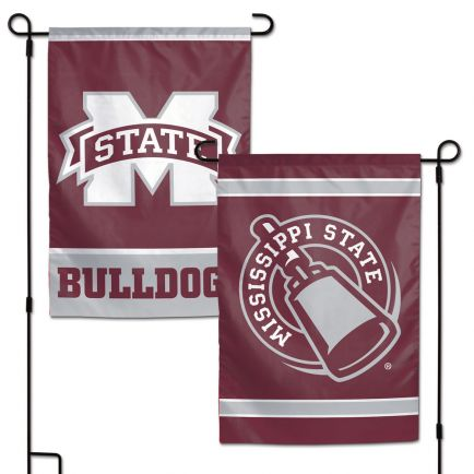 """Mississippi State Bulldogs Garden Flags 2 sided 12.5"""" x 18"""""""