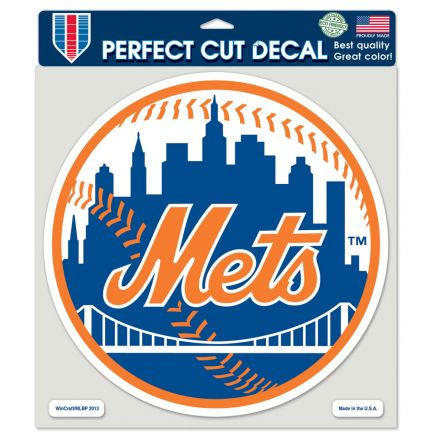 """New York Mets Perfect Cut Color Decal 8"""" x 8"""""""