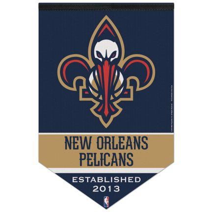 "New Orleans Pelicans Premium Felt Banner 17"" x  26"""
