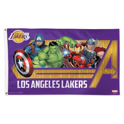 Los Angeles Lakers / Marvel (c) 2021 MARVEL Flag - Deluxe 3' X 5'
