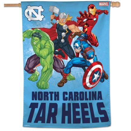 """North Carolina Tar Heels / Marvel (c) 2021 MARVEL Vertical Flag 28"""" x 40"""""""